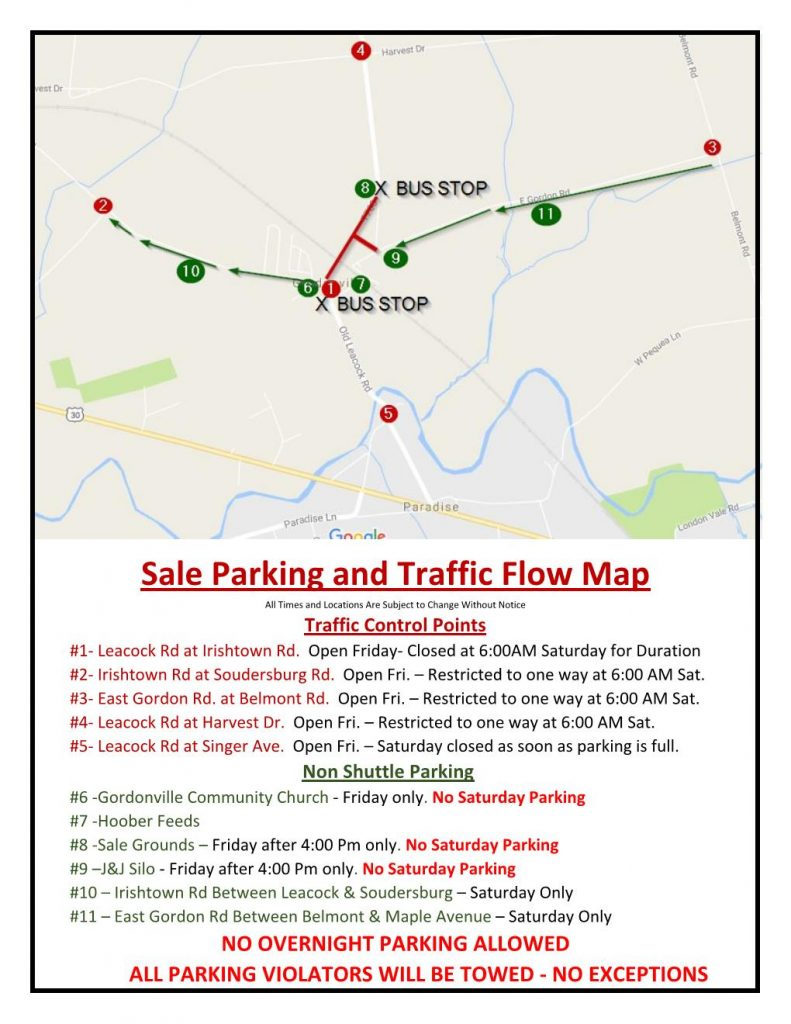 Traffic Flow and Parking Info.